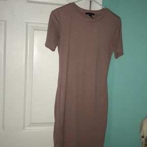 Rose Gold Forever 21 Shirt Dress
